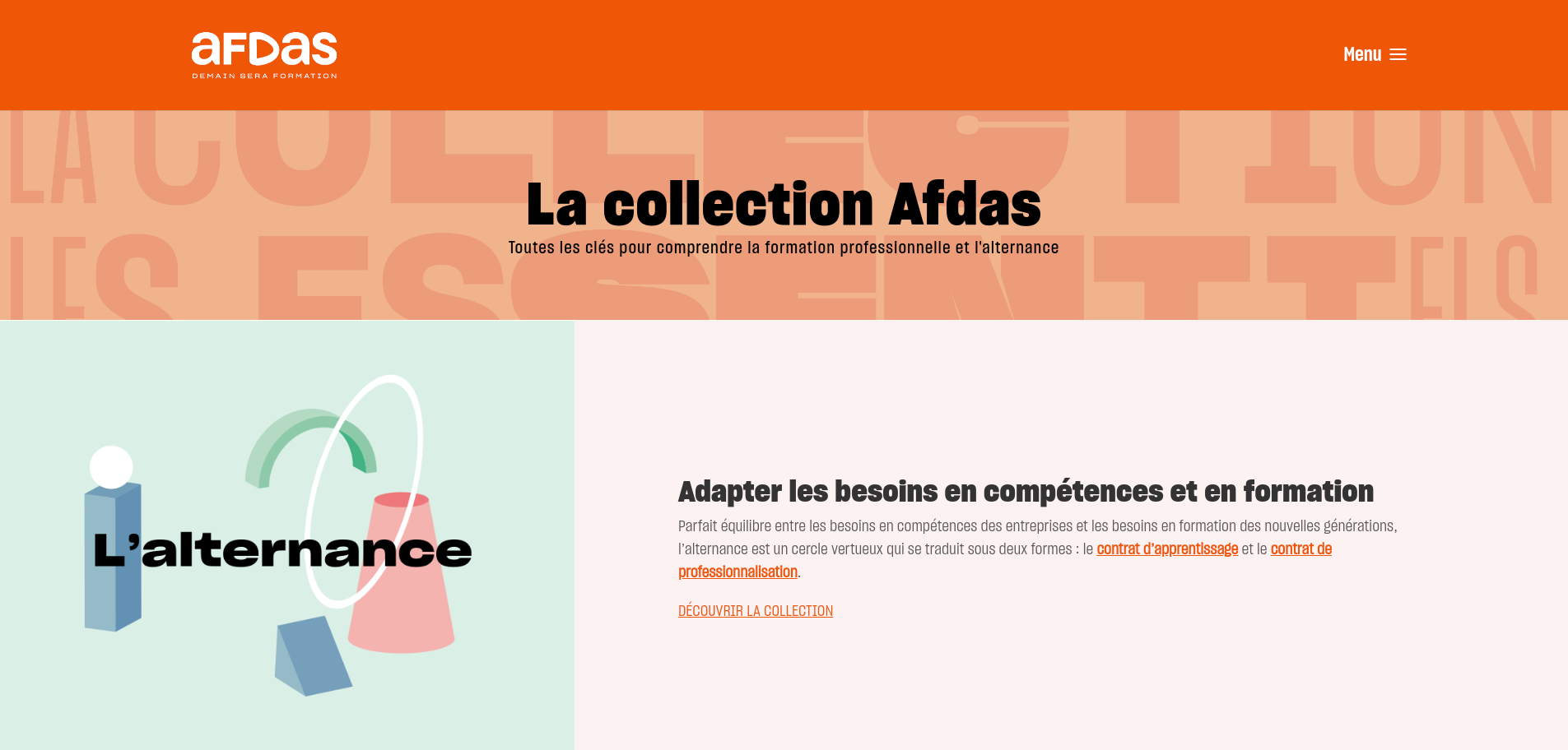 site web de la collection AFDAS